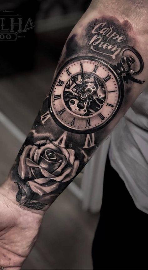 Männer arm uhr tattoo SKIN STORIES