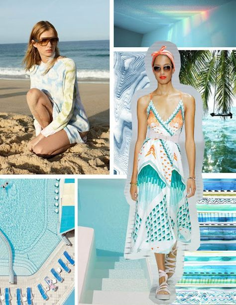 PRINT AND PATTERN - FEELING BLUE . SS 2019 Style Council of NYC specializes full service in custom artwork, hand painting, CAD,... #FashionTrendsForecasting