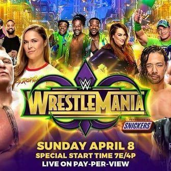 Wrestlemania 34 Official Poster Wrestlemania Professional Wrestling Wrestlemania 35