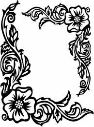 Image Result For Simple Flower Border Designs For School Projects Rose Coloring Pages Flower Coloring Pages Coloring Pages