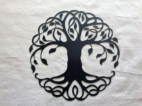 Tree of Life  18.5 x 18.5 x 14 ga   ::  Each piece of metal art is custom cut and unique, different and original in its own way. Some pieces will have water staining and/or other natural blemishes that are a part of the raw steel's character. We cannot guarantee that your piece will be