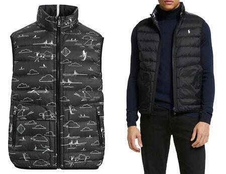 Polo Ralph Lauren Black Reversible 700 Down Suede Golf Vest Jacket New Golf Vest Vest Jacket Jackets