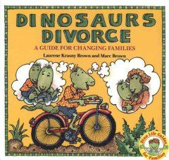Text and illustrations of dinosaur characters introduce aspects of divorce such as its causes and effects, living with a single parent, spending holidays in two separate households, and adjusting to a stepparent.