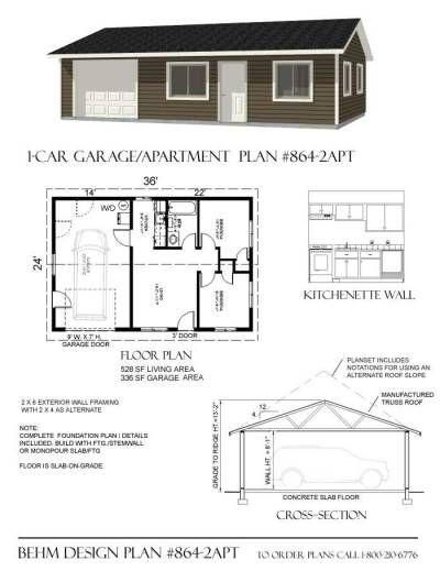 36x24 garage shop plans in 2019 | Garage apartment plans ...