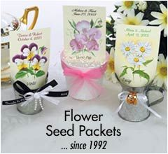 Wedding Favors Seed Packets Personalized