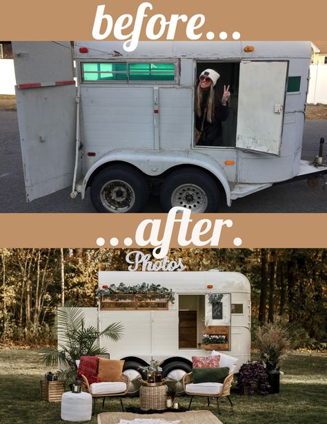 Mobile photo booth trailer for weddings and events. Mobile Bar, Mobile Shop, Coffee Food Truck, Mobile Coffee Shop, Coffee Trailer, Food Truck Business, Flower Truck, Food Truck Design, Coffee Carts