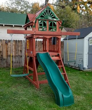 Five Star Ii Space Saver Swing Set In 2019 Outdoor Living