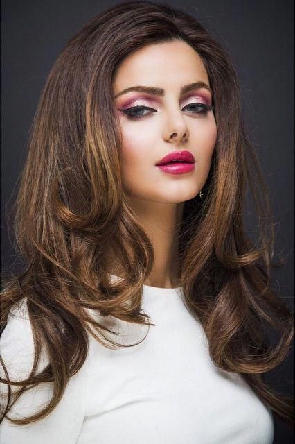 Mahlagha Jaberi Pink Makeup Photoshoot Pinklips Photoshoot