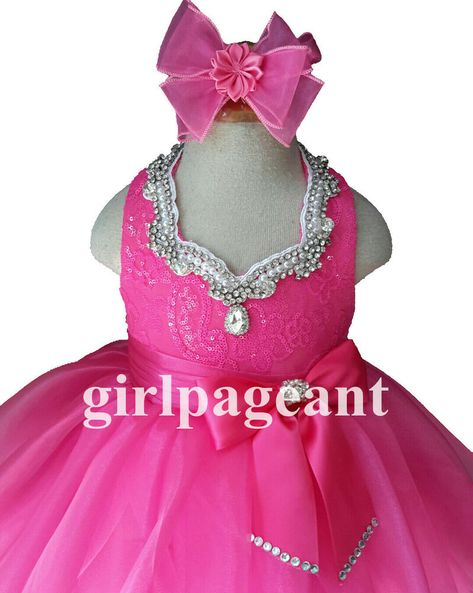 Infant//toddler//kids//baby//children Pageant//prom Dress  from 9~12months to size 5T