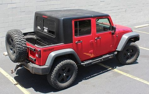 Recruit Jku 4 Door Half Hardtop Kit 4 Door Jeep Wrangler Jku Jeep