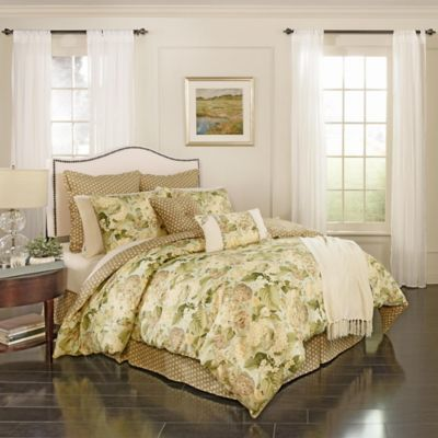 Waverly Garden Glory 7 Piece Reversible California King Comforter Set In Mist Comforter Sets Bedroom Comforter Sets Matching Bedding And Curtains