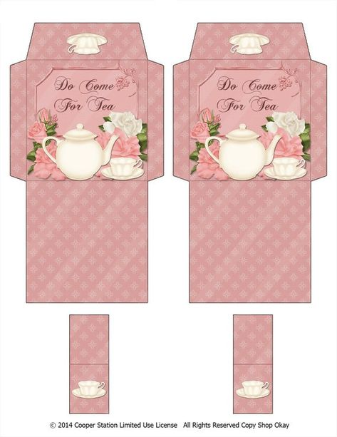 Digital Printable Tea Bag Wrapper