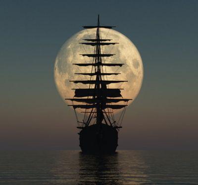 Sailing at Full Moon