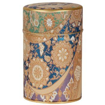 Blue Imperial Tapestry Canister