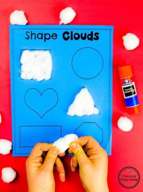 Shapes Activites for Preschool - Weather Theme Looking for fun Weather Activities for Kids? This set is packed with hands-on learning fun for a Weather Theme. Includes an Interactive Weather Chart, and so much more. Weather Activities Preschool, Preschool Learning Activities, Preschool Lessons, Preschool Crafts, Toddler Activities, Kids Crafts, Preschool Shapes, Weather Science, Math Activities For Preschoolers