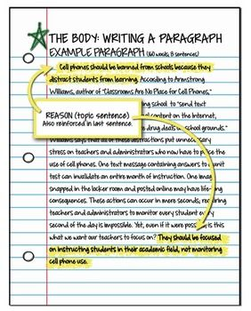 best paragraphs to essays images teaching argument essay student guide body paragraph topic sentence example