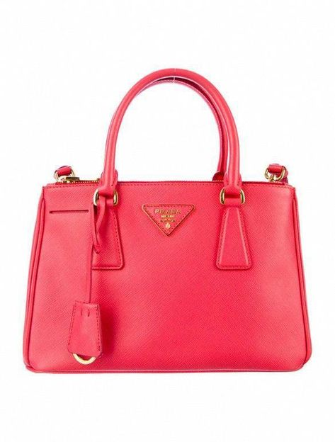edf925663b5c7 Prada Saffiano Lux Mini Tote in coral pink with gold-tone hardware   Pradahandbags