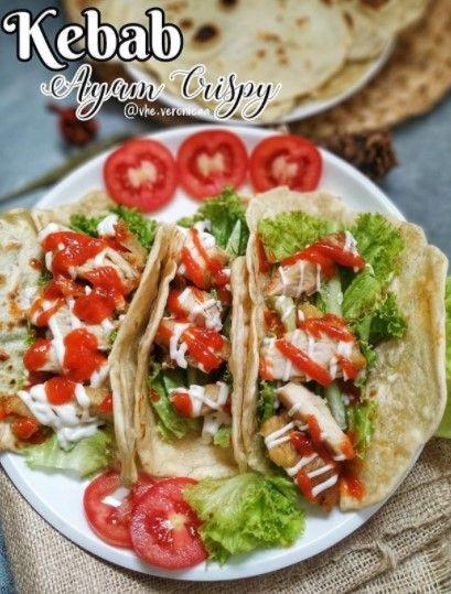 Cara Membuat Kebab Ayam Crispy Resep Makanan Makanan Kebab