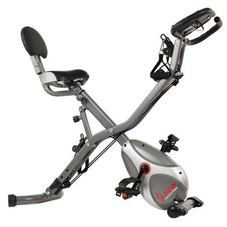 Sunny Health Fitness Sf B2710 Foldable Recumbent Upright Exercise Bike With Adjustable Arm Resistance Bands Walmart Com Upright Exercise Bike Biking Workout Indoor Cycling Bike