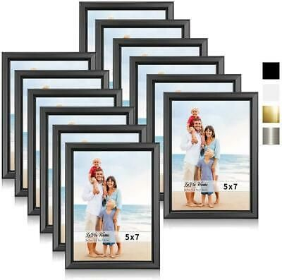 Lavie Home 5x7 Picture Frames 12 Pack Black Simple Designed Photo Frame With Ebay In 2020 5x7 Picture Frames 4x6 Picture Frames Picture Frame Wall