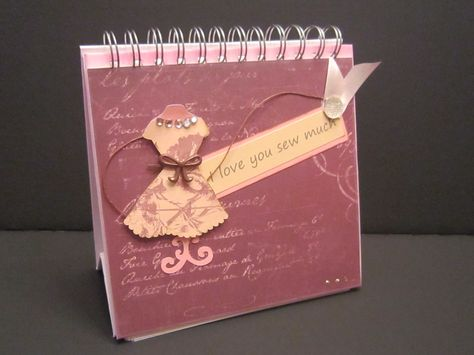 Display album I made. Dress image from Artiste Cricut cartridge. Paper is La Bella Vie from CTMH.