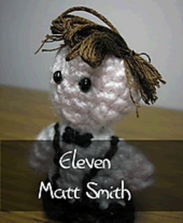 Dr Who - Eleventh Doctor by Nyss Parkes (These mini Doctors do come in one single download, but they simply must be represented individually!) Free Pattern: http://www.ravelry.com/download/146980/free  #TheCrochetLounge #DrWho Collection