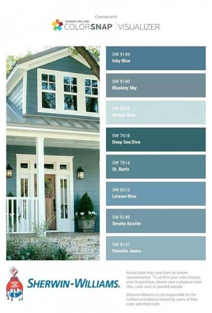 43 Ideas Exterior Paint Colora For House Florida Colour House Exterior Blue Sherwin Williams Exterior House Colors Exterior Paint Colors For House