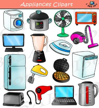 If You Re Looking For Different Types Of Appliances And Electronics This Set Has Just What You Need This Set Ha Clip Art Household Electronics School Clipart