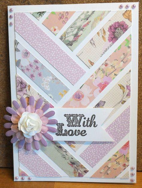 Paper Flowers Scraps Card | Craft Inspiration