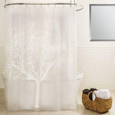 Tree Eva Shower Curtain Pearl Beige Vinyl Shower Curtains Colorful Curtains Curtains