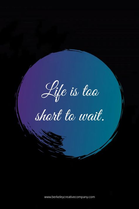 PSA: Life is too short to wait. As 2019 comes to a close think about the things that you want to release! Wishing you a bright and abundant new year.