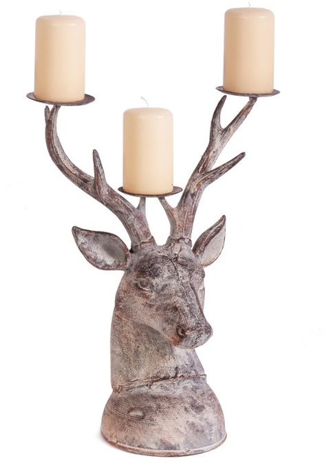 Grenock Highland Stags Head Candle Holder In 2020 Candle Holders Candles Stag Head