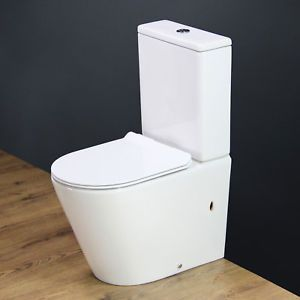 Details About Toilet Wc Close Coupled Cloakroom Round Compact Slim