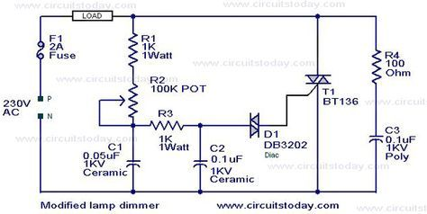 Modified Lamp Dimmer Circuit Electronic Circuits And Diagram Electronics Projects And Design Circuit Diagram Electronics Circuit Electronic Circuit Projects
