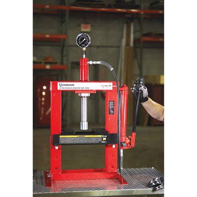 Strongway Benchtop 10 Ton Hydraulic Shop Press With Gauge Hydraulic Shop Press Shop Press Hydraulic