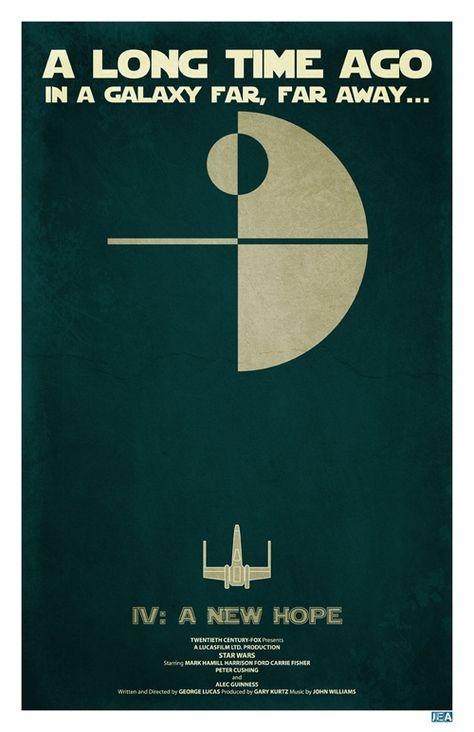 Episode IV /// Jon E. Allen's Star Wars Minimalist Posters