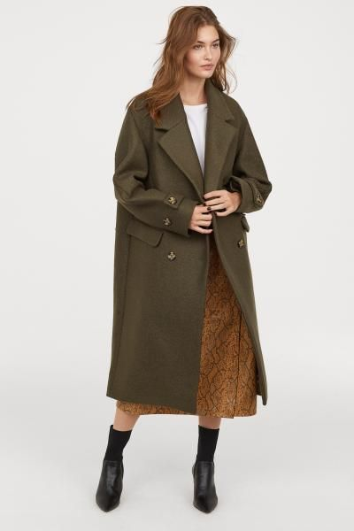 8a558438e Double-breasted Wool Coat in 2019 | Psst! My Wish List | Green wool ...