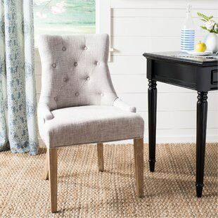 Lemaire Tufted Upholstered Side Chair Joss Main In 2020 Dining Chairs Upholstered Side Chair Solid Wood Dining Chairs