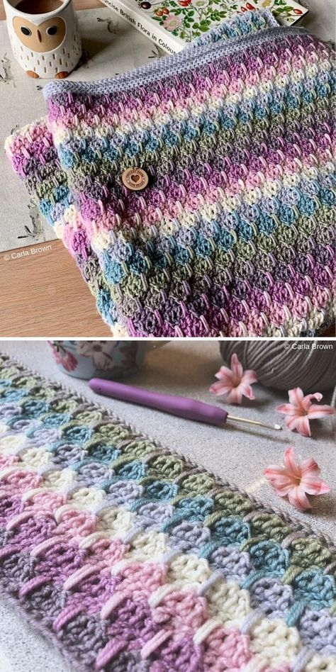 Weeping Rainbows Blanket by Carla Brown – Gift Ideas Baby Afghan Crochet Patterns, Baby Girl Crochet Blanket, Crochet Blocks, Crochet Girls, Crochet Throw Pattern, Crochet Afghans, Crochet Crafts, Crochet Yarn, Crochet Stitches