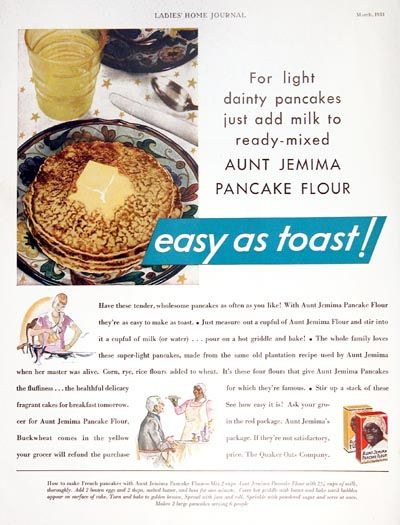 Aunt jemima pancake mix recipe with milk besto blog aunt jemima mark twain pancakes ad 1925 pancake palace and ccuart Images