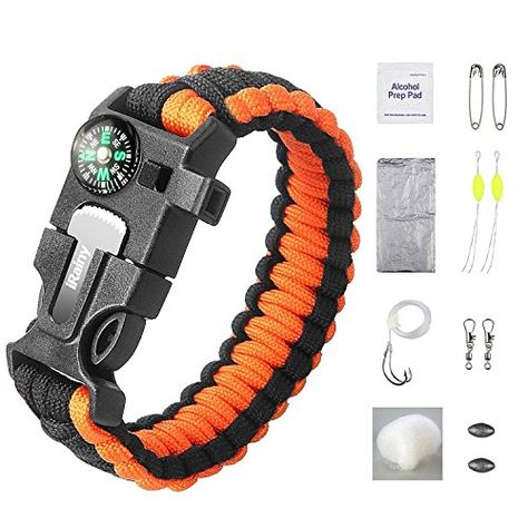 This Irainy Ultimate Paracord Survival Kit Bracelet Gives You All
