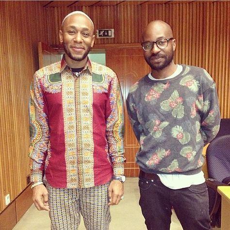 #latergram: Beautiful moment in art: Yasiin Bey (Mos Def) and Kudzanai Chiurai at #AfricaReimagined yesterday. via @simphiwedana