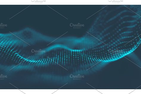 Abstract Music background. Big Data Particle Flow Visualisation. Science infographic futuristic illustration. Sound wave. Sound visualization , #Aff, #Data#Particle#Flow#Music #AD