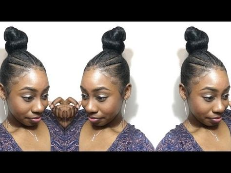 Sleek Braided Bun Updo With Braiding Hair Natural Hair How