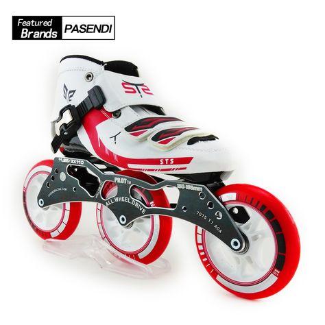Professional 3 Wheel Roller Skates Fiberglass Mens Speed Inline Skating  Shoes Children Patins Slalom Inline Skates Shoes. Yesterday s price  US   215.00 ... fed2520c4e4