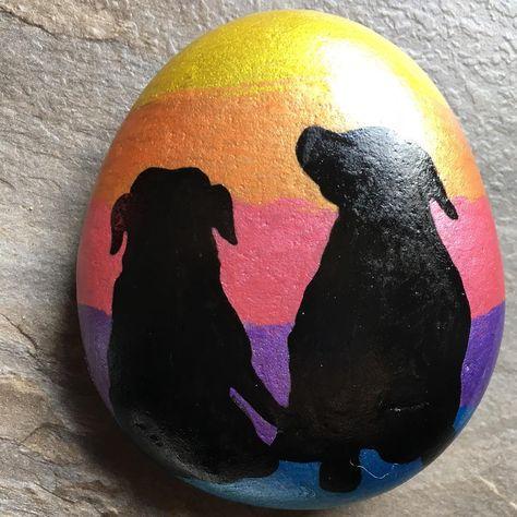 malerp Rottweilers #paintingrocks...