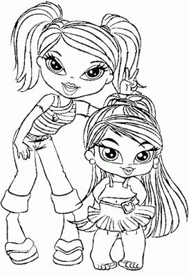Bratz Kidz Coloring Pages Baby Pictures Of Bratz To Color