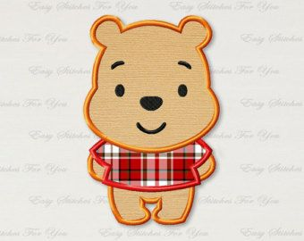 Winnie The Pooh Applique Embroidery Design Winnie The Pooh