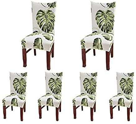 Bench Cushion Covers Amazon Com Soulfeel Set Of 6 Dining Chair Covers Slipcovers Style 55 Dining Room Chair Covers Dining Chair Covers Slipcovers For Chairs