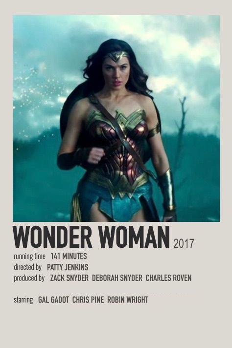 Wonder Woman polaroid movie poster